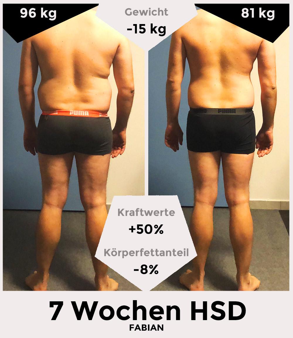 Fabian vor/nach der HSD - hinten