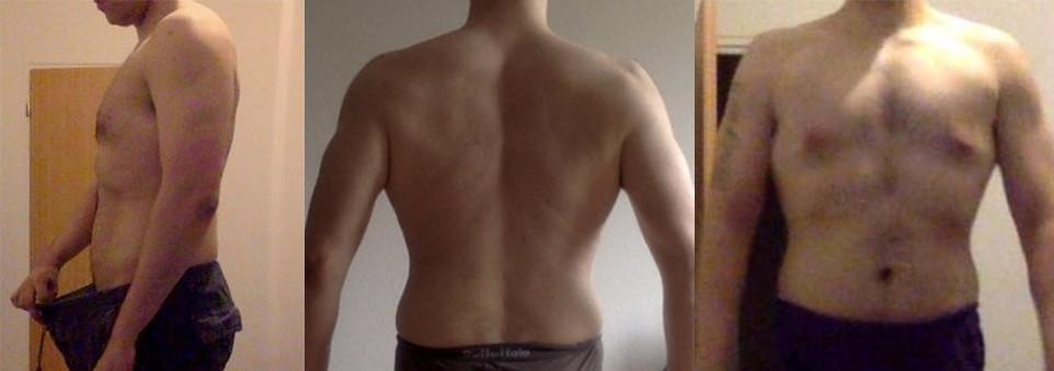 12 kg abgenommen: 98 kg nach 8 Wochen HSD.